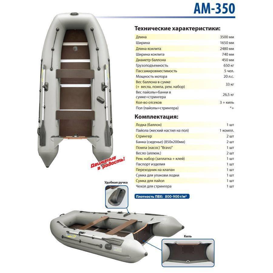 Лодка пвх адмирал ам-320 cl classic с алюминиевым дном