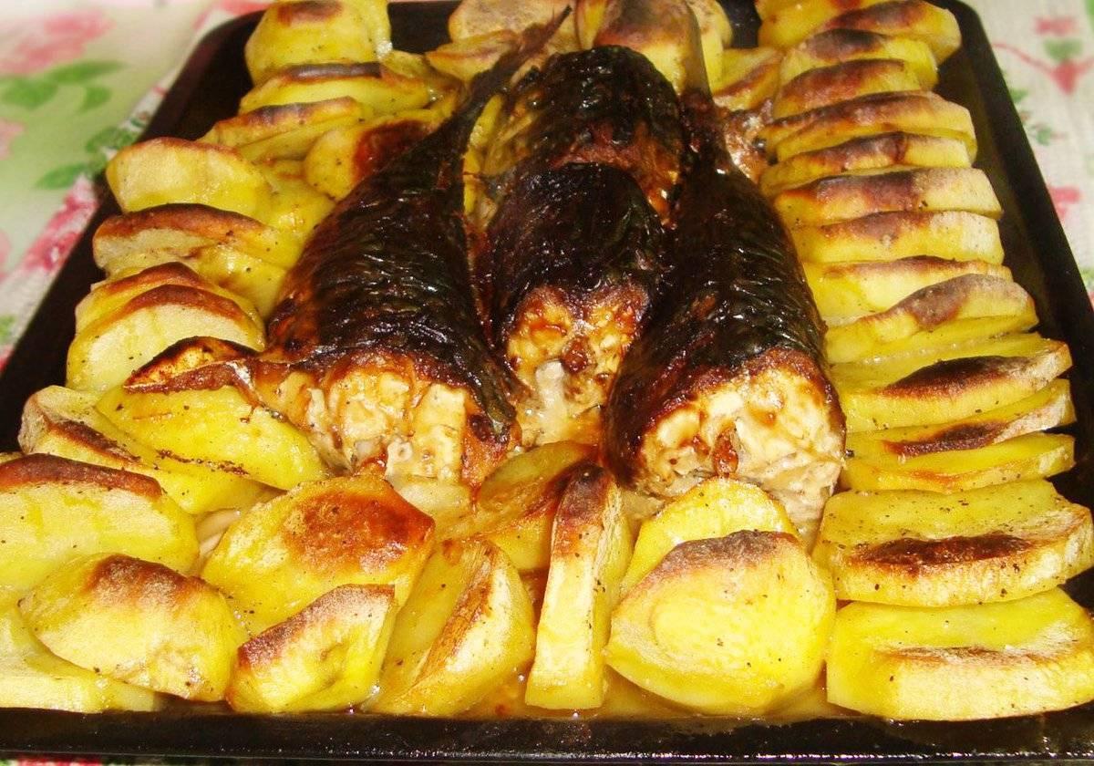 Как приготовить рыбу с картошкой в духовке