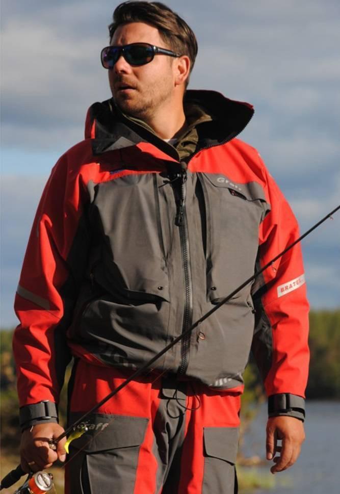 Одежда для рыбалки graff: выбираем рыболовный костюм, забродную куртку или другие варианты. какие особенности материалов?