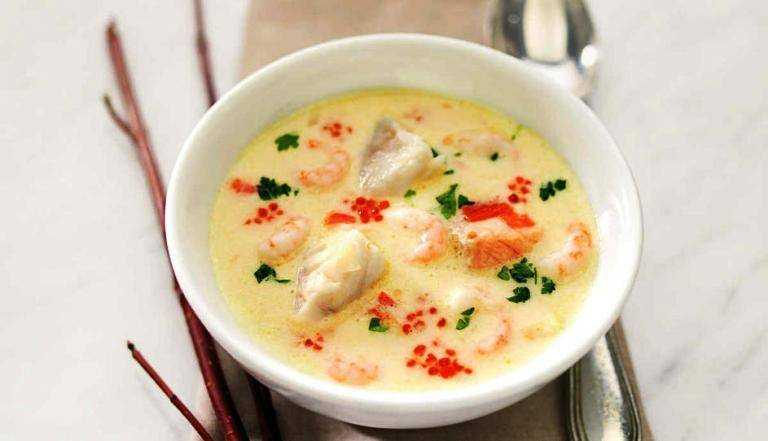 Сливочный рыбный суп – кулинарный рецепт