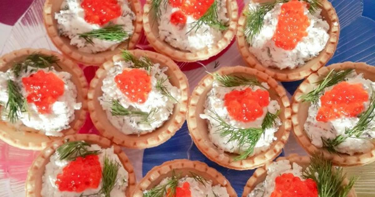 Как приготовить тарталетки с красной рыбой по рецепту с фото