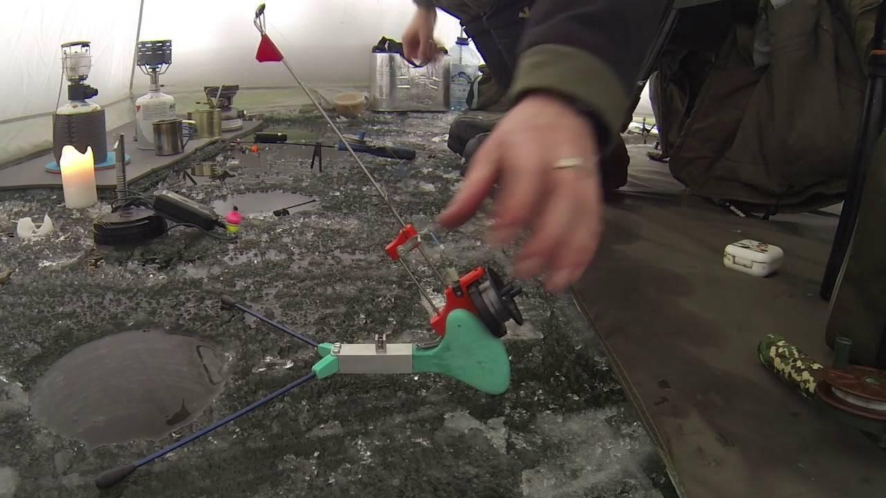 Самоподсекающая зимняя удочка для рыбалки своими руками