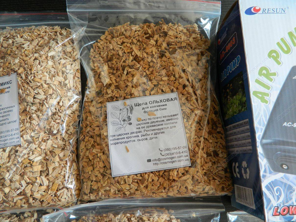 Щепа для копчения продуктов и особенности её применения