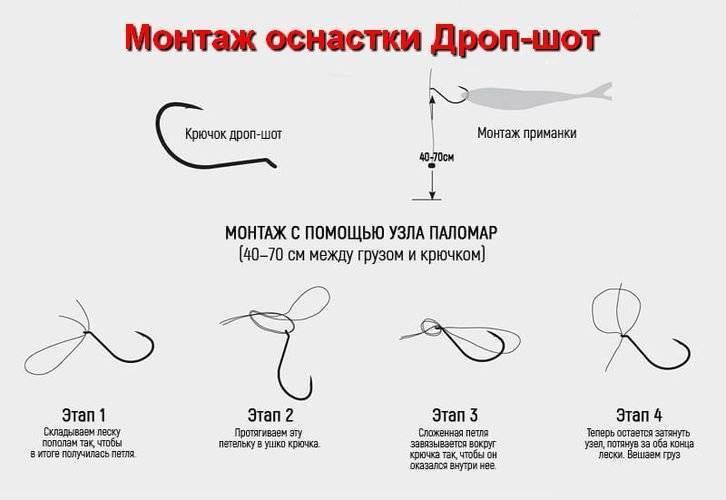 Дроп шот: оснастка на окуня. выбираем крючок и толщину лески