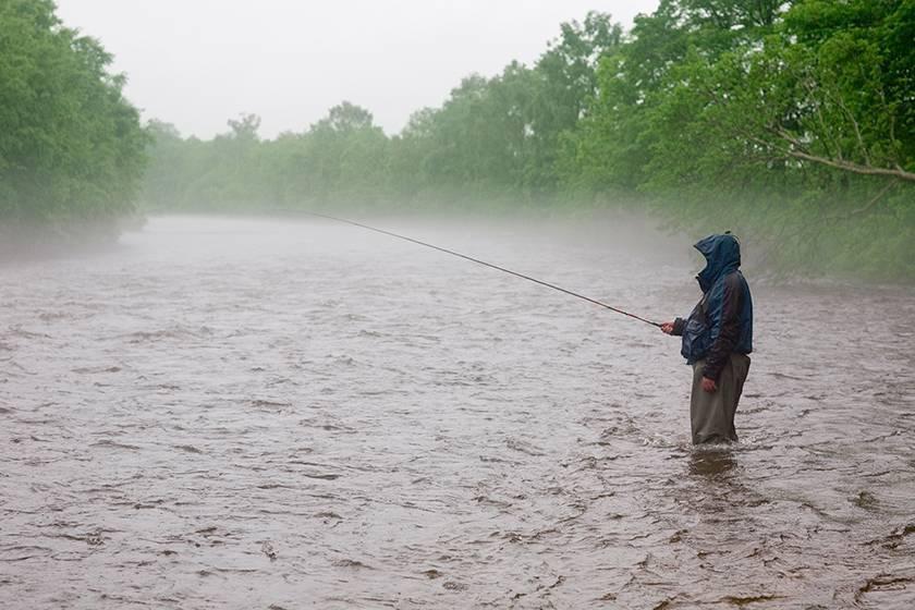 Холод идождь непомеха рыбалке