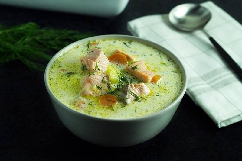 Финский суп с лососем и сливками: простой и вкусный рецепт