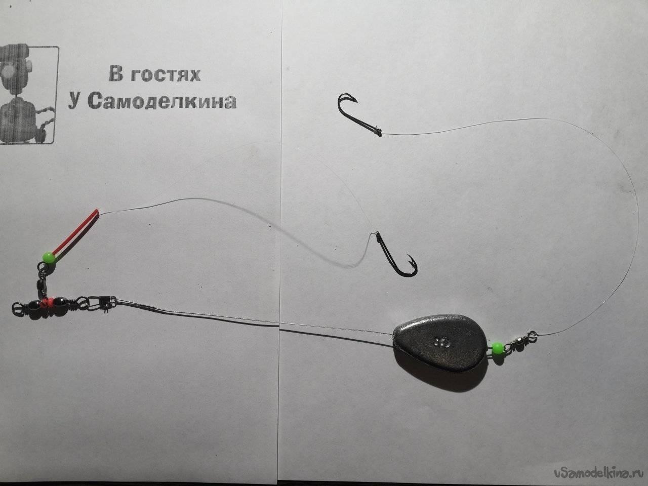 Донка из спиннинга: как сделать монтаж закидушки своими руками