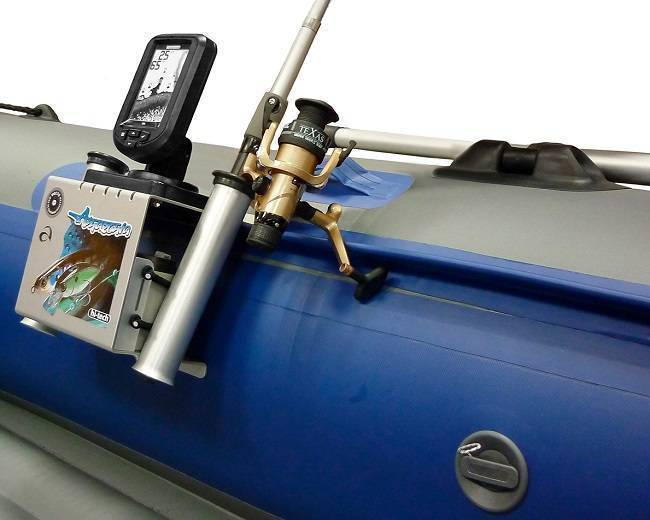 Тюнинг пвх лодки - установка сидений, держателей для спиннингов, и столиков для эхолота - статьи о рыбалке