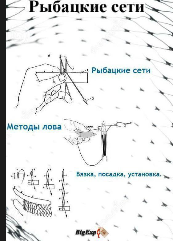✅ посадка рыболовных сетей своими руками - рыбзон.рф