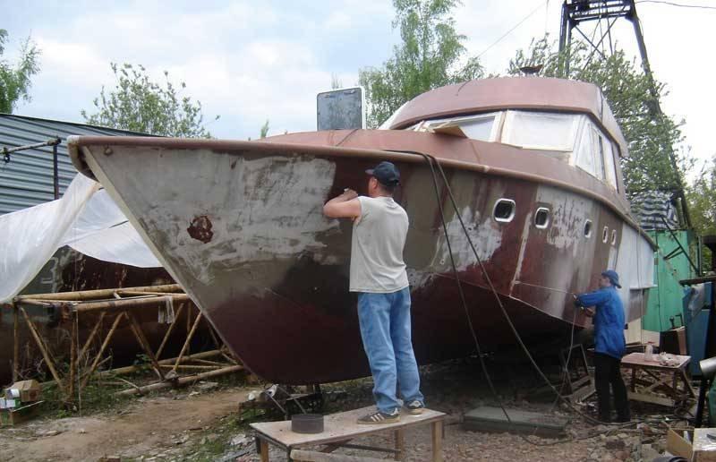 Окраска лодки необрастайкой