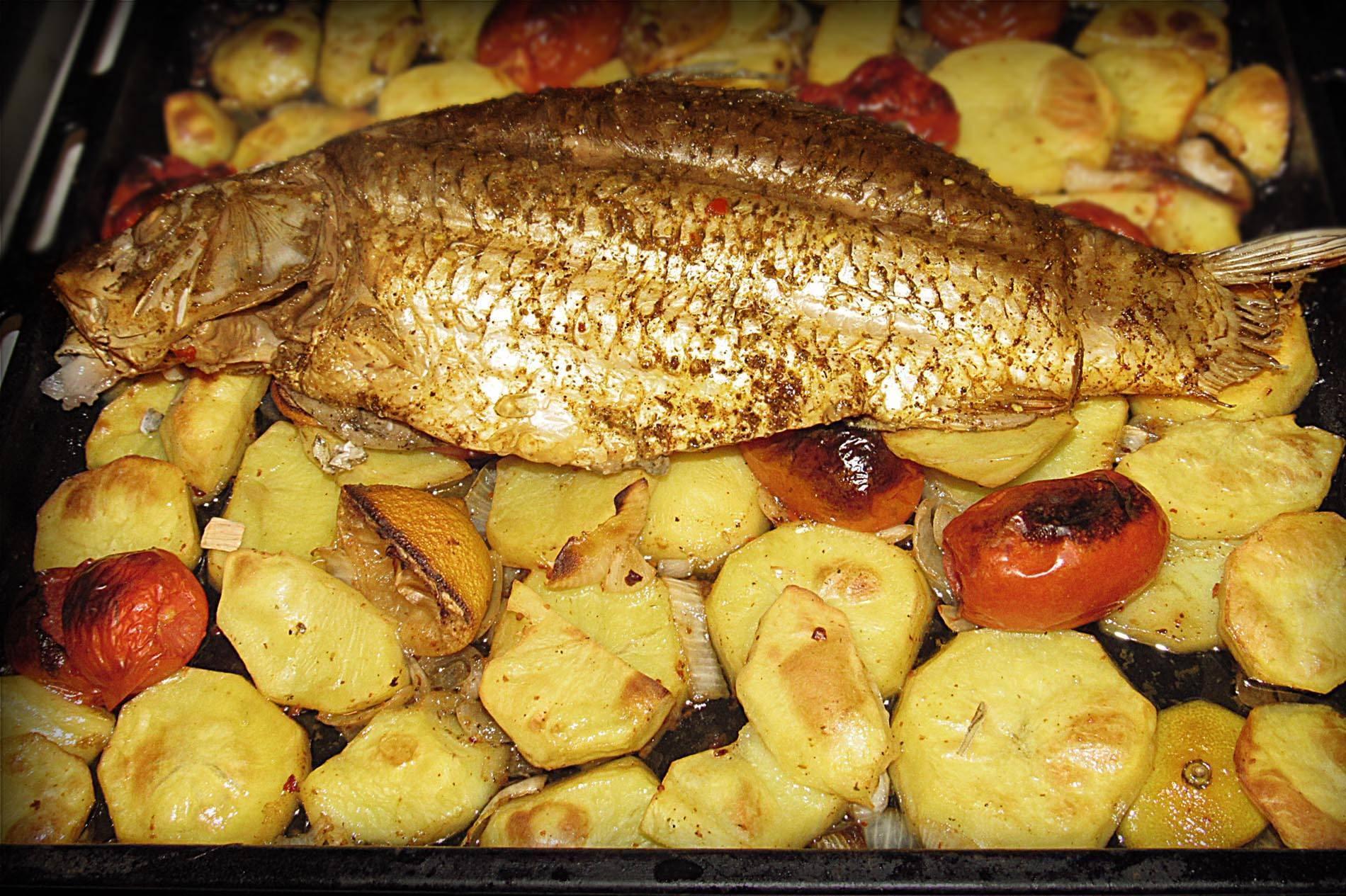 Как вкусно приготовить сазана в духовке