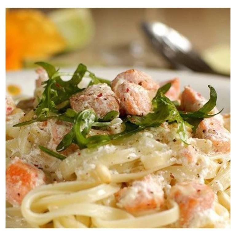 Фетучини с лососем – фото рецепт приготовления в сливочном соусе