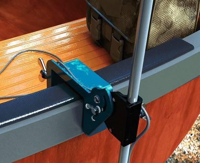Способы крепления эхолота и его датчика на надувные лодки различной конструкции