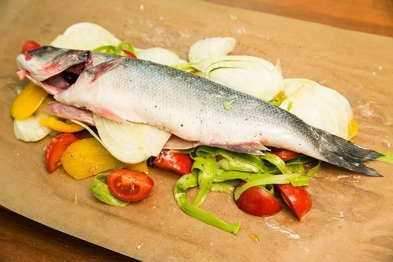 Сибас с овощами рецепт с фото - 1000.menu