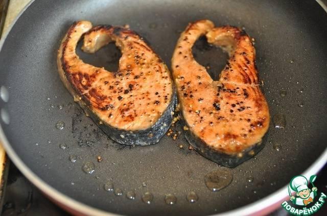 Как приготовить стейк из лосося по рецепту с фото