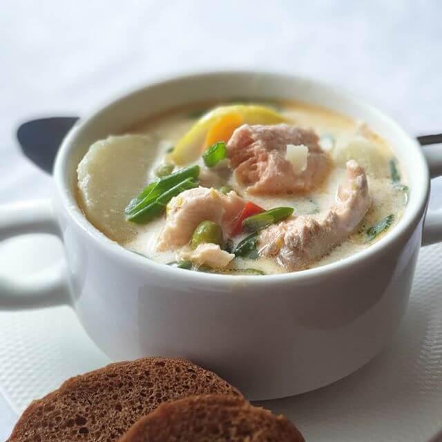 Сливочный суп с семгой - самые вкусные рецепты необычного скандинавского блюда
