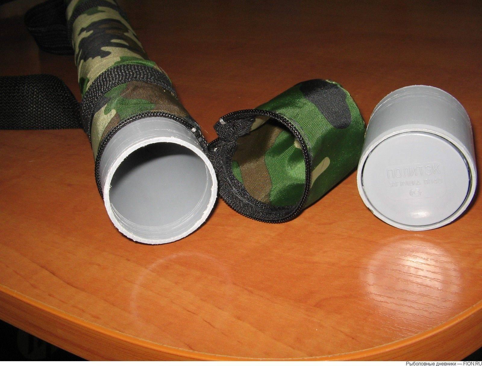 Тубусы для спиннингов своими руками: самодельные тубусы из канализационной трубы для удочек. из чего еще можно сделать тубус для удилищ?