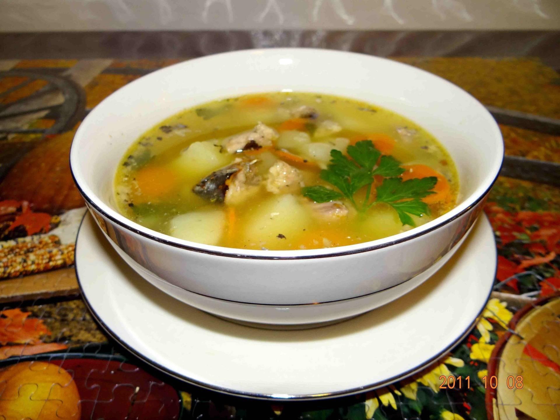 Суп из сайры | 6 рецептов приготовления