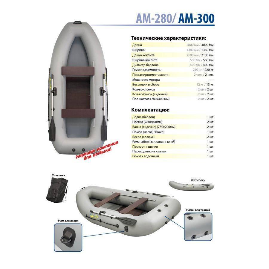 Лодка пвх адмирал 280 и ам-320. обзор, характеристики и особенности судна