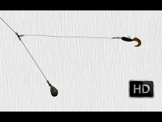 Техасская оснастка изготовление и техника ловли видео