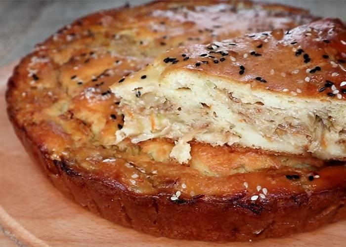 Пошаговый рецепт рыбного пирога на кефире