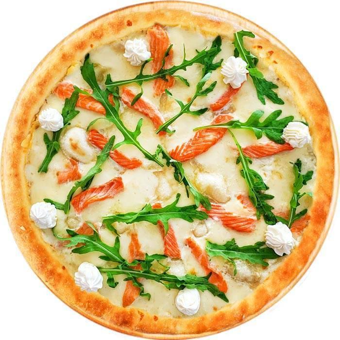 Рецепты пицца с лососем