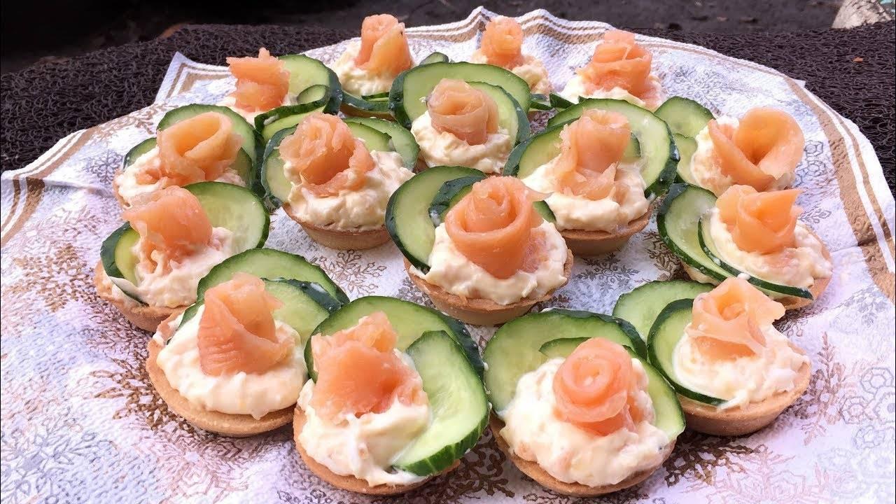 Закуска в тарталетках с красной рыбой — самые вкусные рецепты