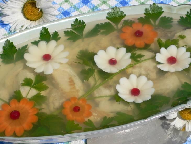 Рецепт заливное из щуки. калорийность, химический состав и пищевая ценность.