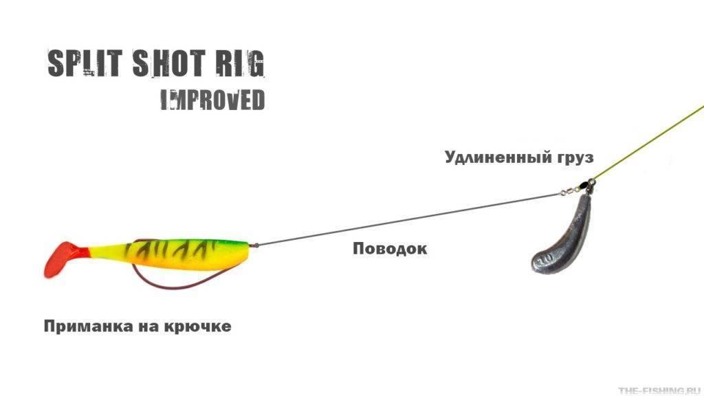 Оснастка дроп-шот: подготовка монтажа и техника ловли судака и окуня
