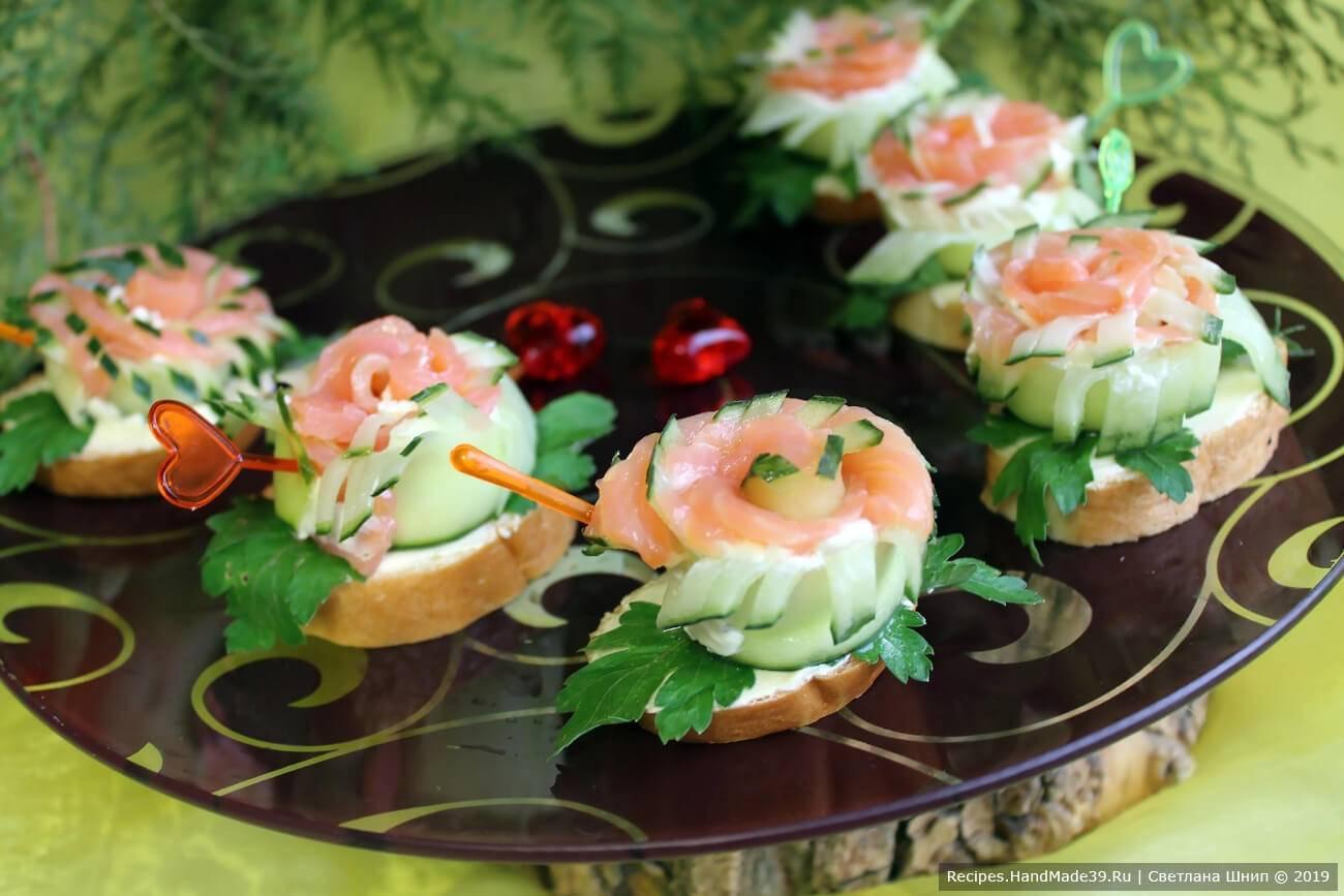Вкусные бутерброды на праздничный стол рецепты с фото
