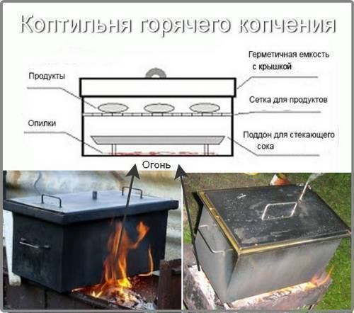 Приготовление осётра горячего и холодного копчения