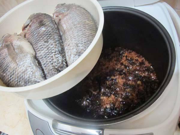 Рыба на пару в мультиварке
