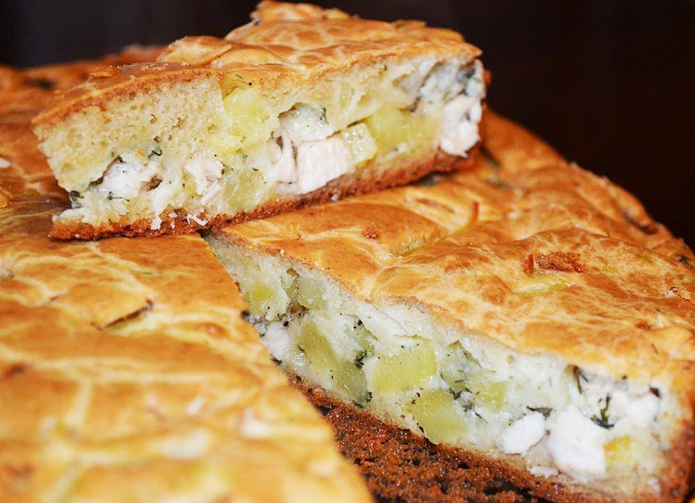 Вкусный заливной пирог – быстрый рецепт на кефире с разными начинками в духовке и в мультиварке