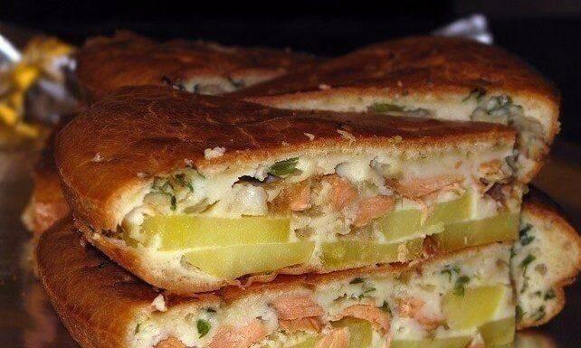 Заливной пирог с рыбными консервами и картошкой рецепт с фото пошагово - 1000.menu