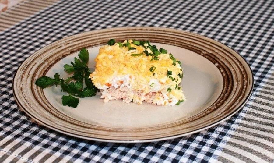 Салаты из рыбных консервов — 4 простых и вкусных рецепта с фото