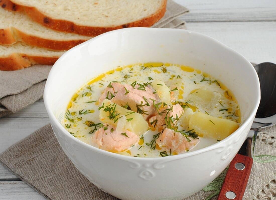 Крем суп из лосося - полезный и питательный: рецепт с фото и видео