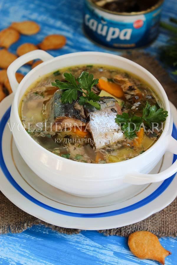 По-гениальному просто и вкусно: суп из сайры консервированной — рецепт с фото
