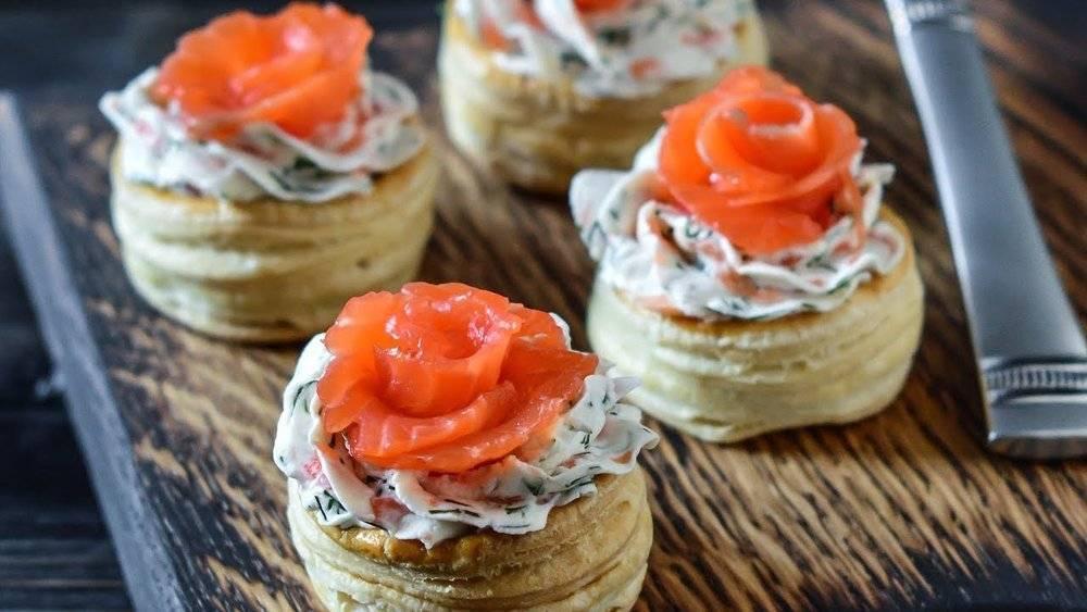 Тарталетки с красной рыбой: пошаговый рецепт с фото