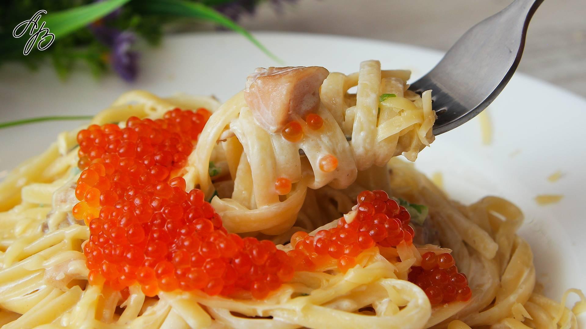 Паста с рыбой в сливочном соусе: простой рецепт с пошаговыми фото