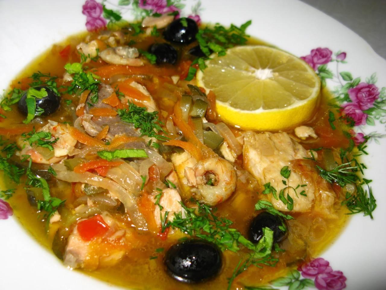 Суп рыбная солянка классическая рецепт с фото пошагово - 1000.menu