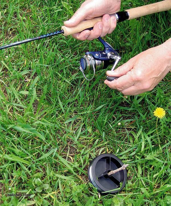 Как намотать леску на безынерционную катушку