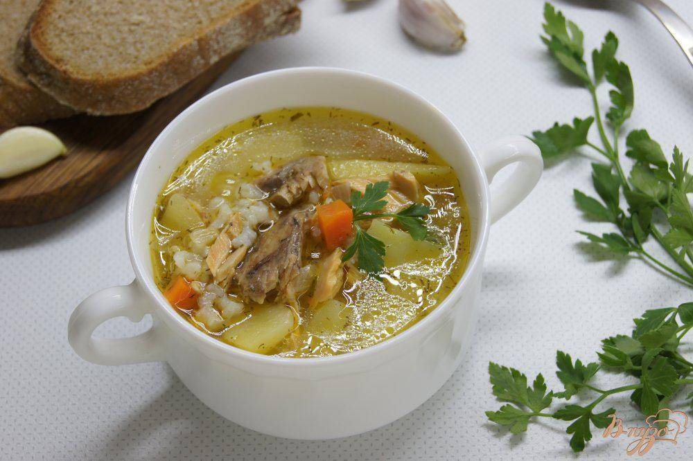 Суп из консервированной горбуши: рецепт с рисом и картошкой
