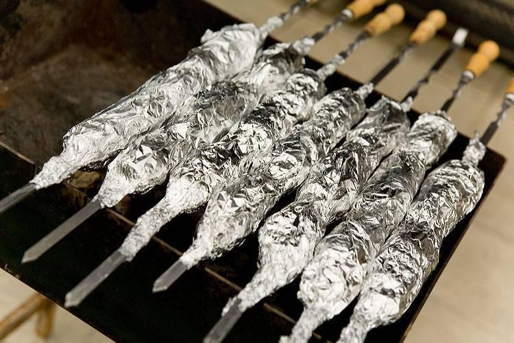 Шашлык из осетра / шашлык из рыбы / tvcook: пошаговые рецепты с фото