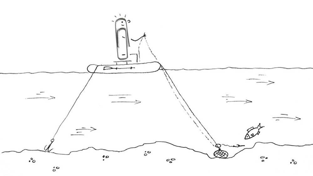 Ловля на кольцо с лодки