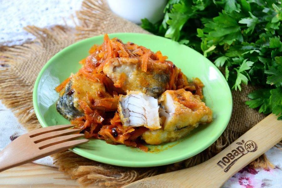 Маринованная жареная рыба – кулинарный рецепт