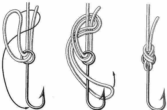 Как быстро и крепко завязывать крючок к леске