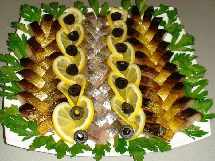 Праздничный рыбный стол — варианты оформления закусок, нарезок, бутербродов из рыбы: фото. украшение, оформление и сервировка блюд из красной, фаршированной, жареной, рыбы и рыбы горячего копчения: фото