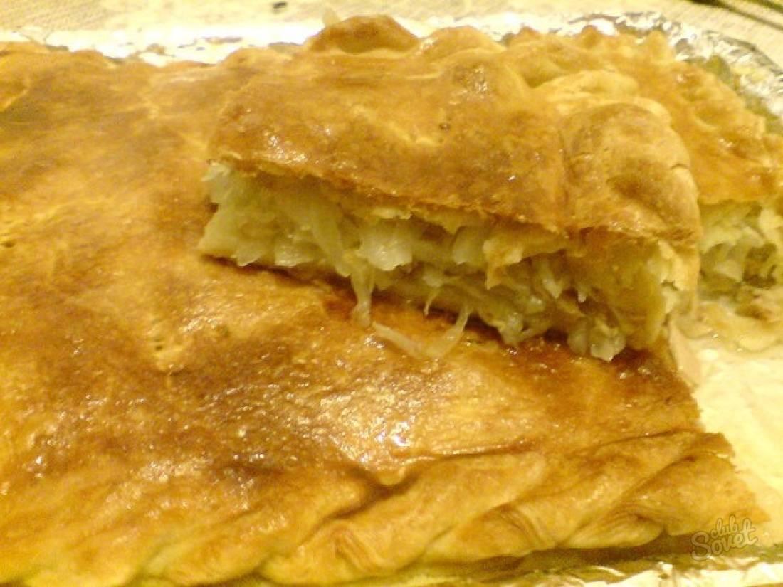 Пошаговый рецепт пирога с капустой и рыбой