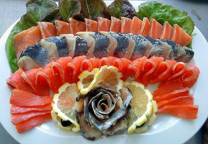 Красивая рыбная нарезка на праздничный стол: идеи, пошаговое оформление в домашних условиях — женские советы