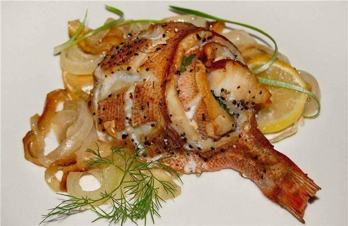 Окунь в фольге — запеченная рыба. пошаговый рецепт сергея джуренко